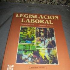 Libros de segunda mano: LIBRO LEGISLACION LABORAL - SEGUNDA EDICION - VICENTE DEL VALLE - MCGRAW HILL. Lote 24902080