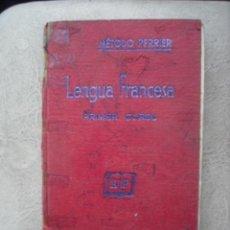 Libros de segunda mano: PRIMER CURSO DE LENGUA FRANCESA - METODO PERRIER . Lote 23022008