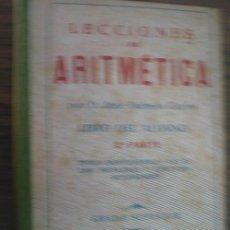 Libros de segunda mano: LECCIONES DE ARITMÉTICA. DALMAU CARLES, JOSÉ. 1941. Lote 23088498
