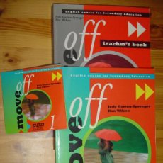 Livros em segunda mão: LOTE LIBROS INGLÉS MOVE OFF 1 SECONDARY EDUCATION. STUDENT'S BOOK / TEACHER'S BOOK / CD. 1996. BBC. Lote 27182375