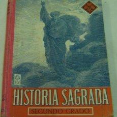 Libros de segunda mano: HISTORIA SAGRADA-SEGUNDO GRADO-EDELVIVES-ED.LUIS VIVES-ZARAGOZA- 1951. Lote 26695492