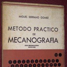 Libros de segunda mano: MÉTODO PRÁCTICO DE MECANOGRAFÍA POR MIGUEL SERRANO GÓMEZ DE ED. JOAQUÍN BEDIA EN SANTANDER 1981. Lote 27088379