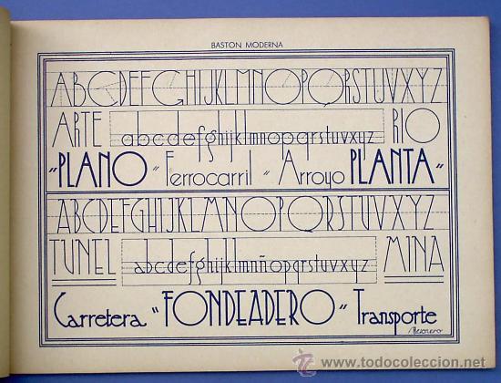 Libros de segunda mano: CUADERNO DE ROTULACIÓN. RAMÓN V. MESONERO. GRÁFICAS AFRODISIO AGUADO. MADRID, SIN FECHA. - Foto 3 - 27547270