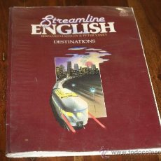 Libros de segunda mano: STREAMLINE ENGLISH. DESTINATIONS/ 2 LIBROS: DE TEXTO Y WORKBOOK A.. Lote 27340752