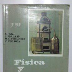 Livres d'occasion: FISICA Y QUIMICA - 3º BUP - EDITORIAL ECIR - 1994. Lote 26665795