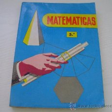 Livres d'occasion: MATEMATICAS - 5º CURSO - AÑO 1.967. Lote 27700237