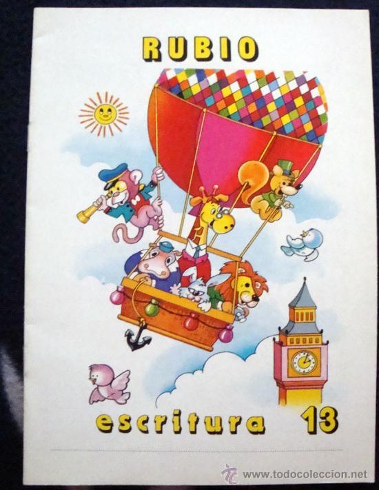CUADERNO RUBIO DE ESCRITURA LOS DEL COLE DE LOS 80 EL Nº 13 (Libros de Segunda Mano - Libros de Texto )