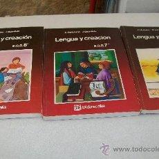 Libros de segunda mano: LENGUA Y CREACIÓN, 6º,7º,8º. E.G.B.-SEGUNDA ETAPA-DIDASCALIA.- 1984,1984,1987.-. Lote 28819785