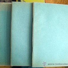 Libros de segunda mano: LOTE DE TRES CUADERNOS NUEVOS DE LOS AÑOS 40-50 DE RAYAS Y PASTAS DE ESTRAZA . Lote 28862692