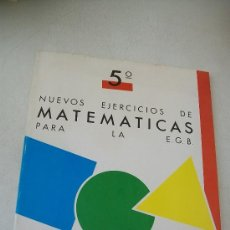Libros de segunda mano: NUEVOS EJERCICIOS DE MATEMÁTICAS PARA LA EGB-5º.- SALVATELLA-1987?. Lote 29151611