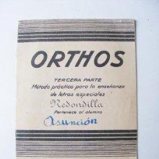 Libros de segunda mano: ORTHOS, 3ª PARTE, REDONDILLA, CUADERNO 2, ED MIGUEL SALVATELLA, 1960. Lote 29331190