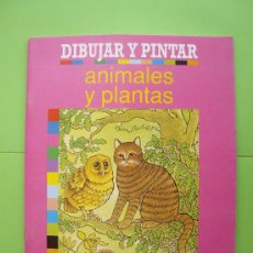 Libros de segunda mano: DIBUJAR Y PINTAR - ANIMALES Y PLANTAS - PARRAMON 1989 ). Lote 29463224