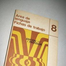 Libros de segunda mano: 8-AREA DE LENGUAJE, FICHAS DE TRABAJO-EDICIÓN PARA EL PROFESOR-EGB-EDUCACIÓN SANTILLANA-1974. Lote 29716000