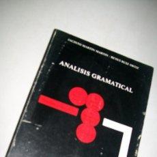 Libros de segunda mano: ANÁLISIS GRAMATICAL-JACINTO MARTIN MARTIN/ REYES RUIZ ORTIZ-1986-EDT: COMARES. Lote 29716065