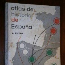 Libros de segunda mano: ATLAS DE HISTORIA DE ESPAÑA POR JAUME VICENS VIVES DE ED. TEIDE EN BARCELONA 1965 5ª EDICIÓN. Lote 30078369