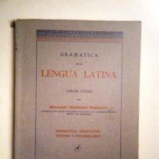 Libros de segunda mano: GRAMÁTICA DE LA LENGUA LATINA. TERCER CURSO. TEMPRANO, B. ZARAGOZA 1949. Lote 30108200