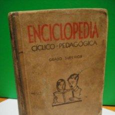 Libros de segunda mano: ENCICLOPEDIA CICLICO PEDAGOGICA GRADO SUPERIOR EDITORIAL DALMAU - PLA 1949. Lote 30668914