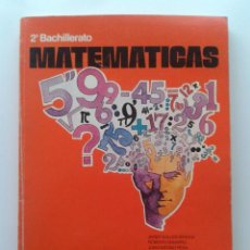 Libros de segunda mano: MATEMATICAS 2 - 2º BACHILLERATO - EDITORIAL MAGISTERIO ESPAÑOL - 1976. Lote 30669342