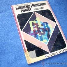 Libros de segunda mano: EJERCICIOS Y PROBLEMAS EVEREST ( 8º CURSO ) - EVEREST 1975 -. Lote 31642891