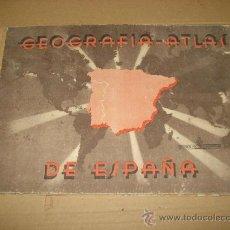 Libros de segunda mano: ANTIGUO ATLAS GEOGRAFIA DE ESPAÑA DE EDIT. MIGUEL A. SALVATELLA 1ª EDIC. 1943. Lote 31881012