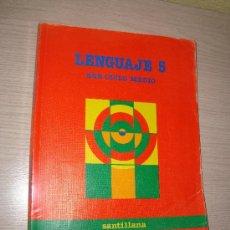 Libros de segunda mano: LENGUAJE 5 º EGB CICLO MEDIO - SANTILLANA 1988. Lote 31932869