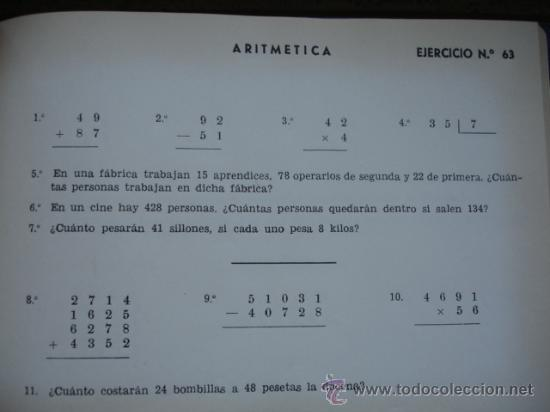 Libros de segunda mano: PROBLEMAS RUBIO.EJERCICIOS DE ARITMETICA.1ª PARTE.SOBRE 625 PROBLEMAS.ESCUELA - Foto 2 - 32366722