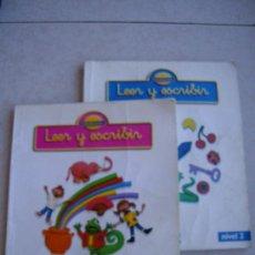 Libros de segunda mano: LEER Y ESCRIBIR ( NIVEL 1 Y NIVEL 2 ) - SANTILLANA 1995. Lote 32484199