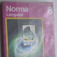 Libros de segunda mano: NORMA 8 EGB (LENGUAJE) LIBRO DE CONSULTA DE ED. SANTILLANA EN MADRID 1973. Lote 32534691