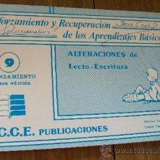 Libros de segunda mano: ALTERACIONES DE LECTO - ESCRITURA- 9 AFIAZAMIENTO-I.C.C.E. PUBLICACIONES-1988. Lote 32829380