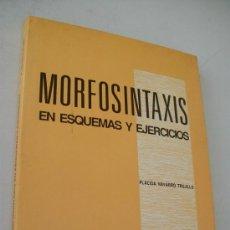 Libros de segunda mano: MORFOSINTAXIS EN ESQUEMAS Y EJERCICIOS-PLÁCIDA NAVARRO TRUJILLO.-PPU-BARCELONA-1ª. EDICIÓN 1989.-. Lote 32985063