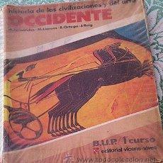 Libros de segunda mano: LIBRO DE TEXTO HISTORIA 1º BUP. Lote 33141117