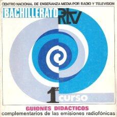 Libros de segunda mano: LENGUA ESPAÑOLA - BACHILLERATO RTV 1ER CURSO - GUIONES DIDÁCTICOS - 1968. Lote 33371140