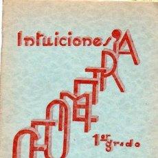 Libros de segunda mano: FRANCISCO BULLÓN RAMÍREZ, INTUICIONES, PRIMER GRADO DE GEOMETRÍA, MINERVA, SALAMANCA 1937. Lote 33507895
