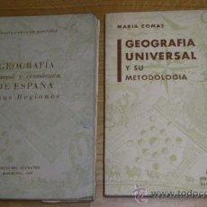 Libros de segunda mano: GEOGRAFÍA DE ESPAÑA Y UNIVERSAL 2T POR MARÍA COMAS DE MONTÁÑEZ DE ED. SÓCRATES EN BARCELONA 1962. Lote 34144954