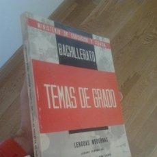 Libros de segunda mano: TEMAS DE EXAMENES DEL GRADO ELEMENTAL DE BACHILLERATO . Lote 34606147