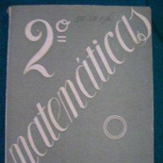 Libros de segunda mano: LIBRO MATEMÁTICAS, ALFONSO GIRONZA, 2º, 1956. CON PROGRAMA. Lote 35263344
