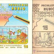 Libros de segunda mano: LOTE 2 CUADERNOS RUBIO DE 1978. PROBLEMAS RUBIO, NÚMEROS 15 Y 18. Lote 35891001