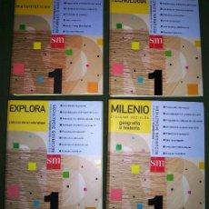 Libros de segunda mano: LOTE DE 4 CARPETAS DE RECURSOS DIDÁCTICOS 1º ESO DE VARIAS ASIGNATURAS POR EDICIONES SM EN MADRID . Lote 33787535