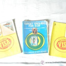 Libros de segunda mano: TRES LIBROS DE TEXTO DE INGLES DE E.G.B Y BUP. VISA Y TARGET.. Lote 36733295