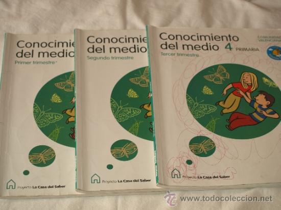 CONOCIMIENTO DEL MEDIO 4º PRIMARIA LA CASA DEL SABER. SANTILLANA .COMUNIDAD  VALENCIANA. USA