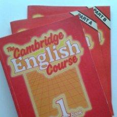 Libros de segunda mano: THE CAMBRIDGE ENGLISH COURSE 1 PRACICE BOOK + STUDENTS BOOK 1, 2 CAMBRIDGE UNIVERSITY PRESS INGLES. Lote 36967129
