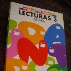 Libros de segunda mano: LECTURAS 3 - 2º CICLO PRIMARIA - ( ANAYA 2001 ) USAR. Lote 37162424