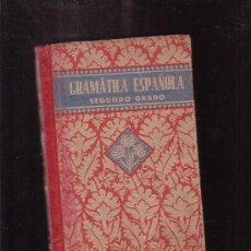 Libros de segunda mano: GRAMATICA ESPAÑOLA , SEGUNDO GRADO -EDITA : EDELVIVES 1939. Lote 37846252