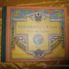 Libros de segunda mano: GEOGRAFIA Y ATLAS. SEGUNDO GRADO. EDITORIAL F.T.D. 1924. EDICION FACSIMIL *. Lote 37886964