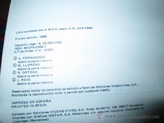 Libros de segunda mano: LIBRO FP FORMACION HUMANISTICA PRIMER GRADO MUNDO-2 AÑO 86 VICENS VIVES - Foto 2 - 38035593