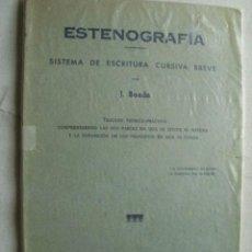 Libros de segunda mano: ESTENOGRAFÍA, SISTEMA DE ESCRITURA CURSIVA BREVE. BOADA, J. 1976. Lote 38060268