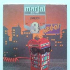 Libros de segunda mano: MARJAL ENGLISH 3 - 2º CICLO - GRUPO EDEBE - 1993 - INGLES. Lote 38662797