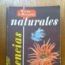Libros de segunda mano: CIENCIAS NATURALES, QUINTO CURSO, VERDU, LOPEZ MEZQUIDA, ECIR, 1967. Lote 39136768