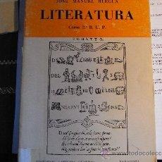 Livres d'occasion: LITERATURA. 2º BUP. JOSÉ MANUEL BLECUA.. Lote 39266398