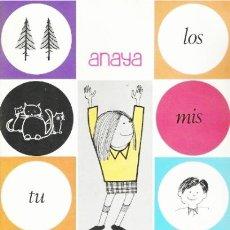 Libros de segunda mano: LECTURA PALAU-ANAYA -CUARTA CUARTILLA. Lote 121675166